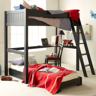 An Image of Pippin Childrens Highsleeper with Futon And Corner Desk