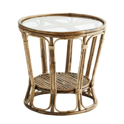 An Image of Two Tier Bamboo Side Table, Natural