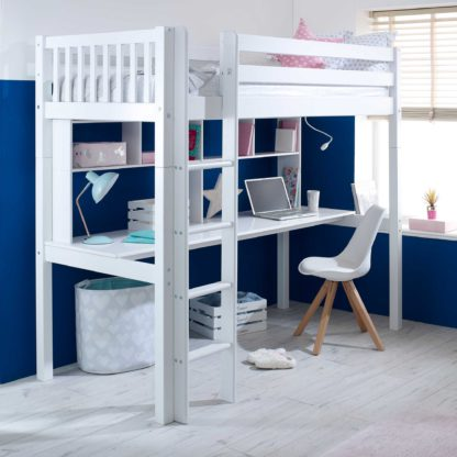An Image of Ferdie Childrens Highsleeper Bed with Desk