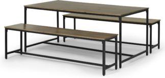 An Image of Lomond Dining Table Set, Mango Wood & Black