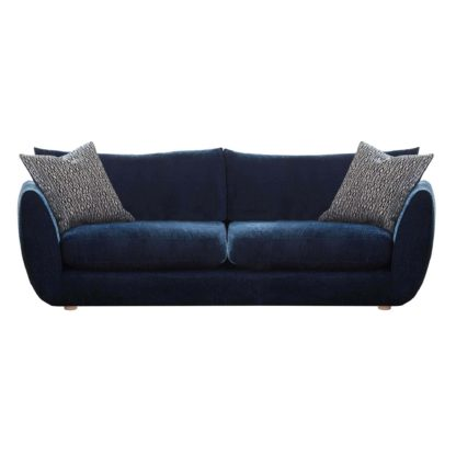 An Image of Big Blue Large Sofa
