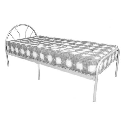 An Image of Sydney Metal Single Bed In Silver