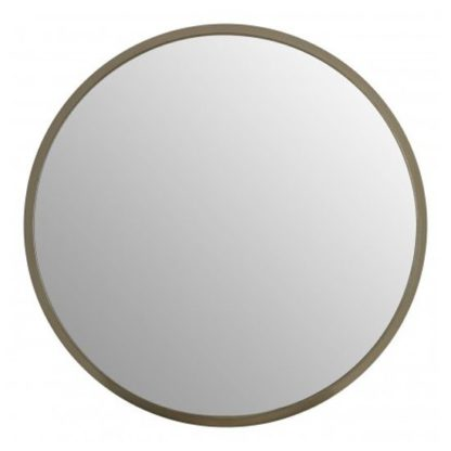 An Image of Athens Large Round Wall Bedroom Mirror In Silver Frame