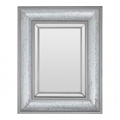 An Image of Whinny Wall Bedroom Mirror In Antique Silver Frame