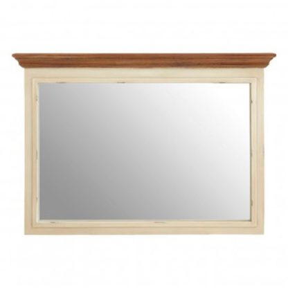 An Image of Virginias Wall Bedroom Mirror In Cream Frame