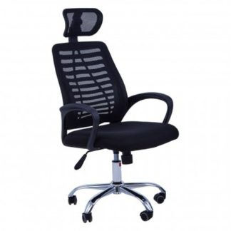 An Image of Acona Home And Office Chair With Arms In Black