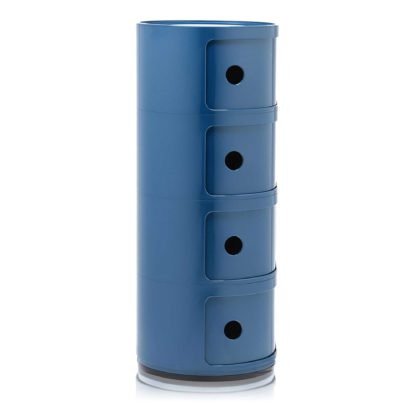 An Image of Kartell Componibili 4 Drawer Storage Unit, Blue