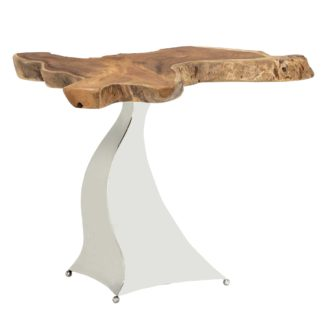 An Image of Caspian Promesse Solid Wood Side Table