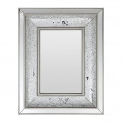 An Image of Wallisian Wall Bedroom Mirror In Antique Silver Frame