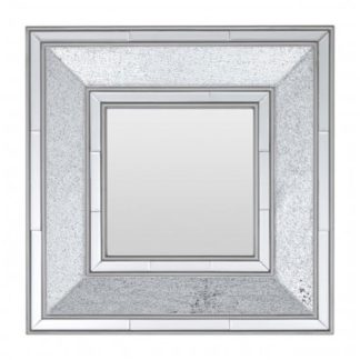 An Image of Wilmer Wall Bedroom Mirror In Antique Silver Frame