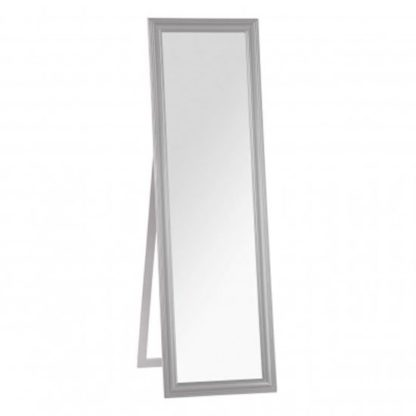 An Image of Urbana Floor Standing Cheval Mirror In Grey Frame