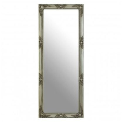 An Image of Zelman Wall Bedroom Mirror In Antique Silver Frame