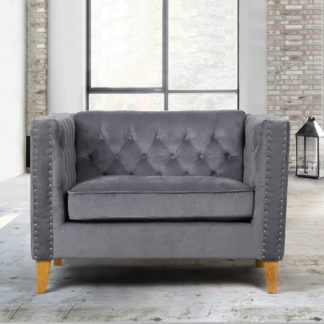 An Image of Florence Grey Snuggle Chair