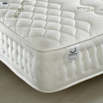 An Image of Aloe Vera 1500 Pocket Sprung Memory and Reflex Foam Mattress - 6ft Super King Size (180 x 200 cm)