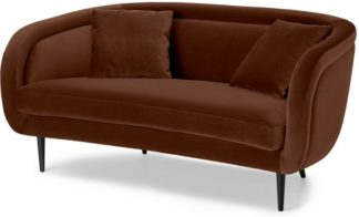 An Image of Caswell 2 Seater Sofa, Warm Caramel Velvet