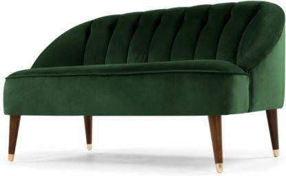 An Image of Margot 2 Seater Sofa, Forest Green Velvet