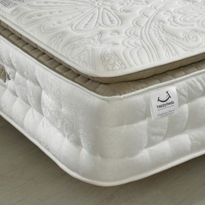 An Image of Windsor 3000 Pocket Sprung Memory Wool Orthopaedic Pillow Top Mattress - 4ft6 Double (135 x 190 cm)
