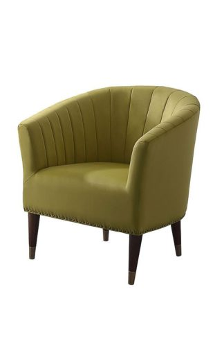 An Image of Bellini Armchair Olive Velvet