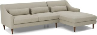 An Image of Herton Right Hand Facing Chaise End Sofa, Barley Weave