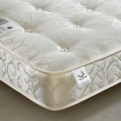 An Image of Gold Tufted Orthopaedic Spring Mattress - 4ft6 Double (135 x 190 cm)