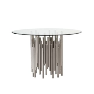 An Image of Rubell Silver Dining Table