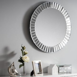 An Image of Sonata Round Glass Wall Mirror - 60 cm