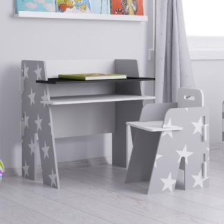 An Image of Star Grey and White Desk and Chair