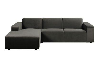 An Image of Pebble Left hand Corner Sofa - Carbon