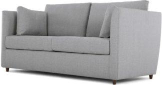 An Image of Milner Sofa Bed with Memory Foam Mattress, Granite Grey