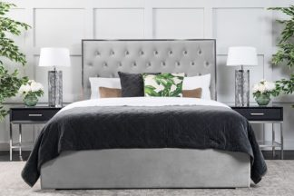 An Image of Lavinia Storage Bed Platinum Grey