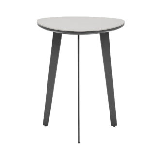 An Image of Avory Ceramic Side Table, Taupe