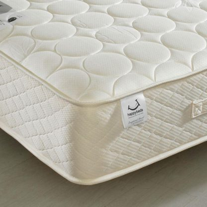 An Image of 4ft6 Double Quilted Mattress Bamboo Natural Fillings - Mirage Spring
