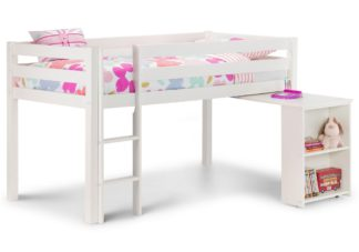An Image of Wendy White Wooden Mid Sleeper Frame Only - 3ft Single