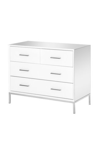 An Image of Trio White Chest of Drawers
