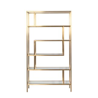 An Image of Otto Brass Shelf Unit