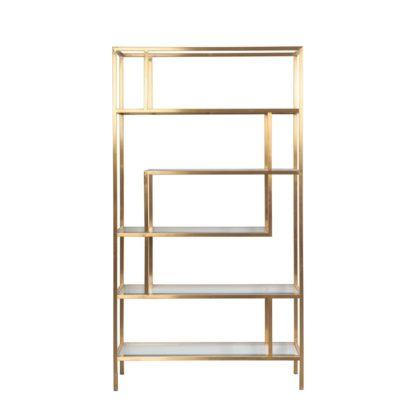 An Image of Otto Brass Shelf Unit