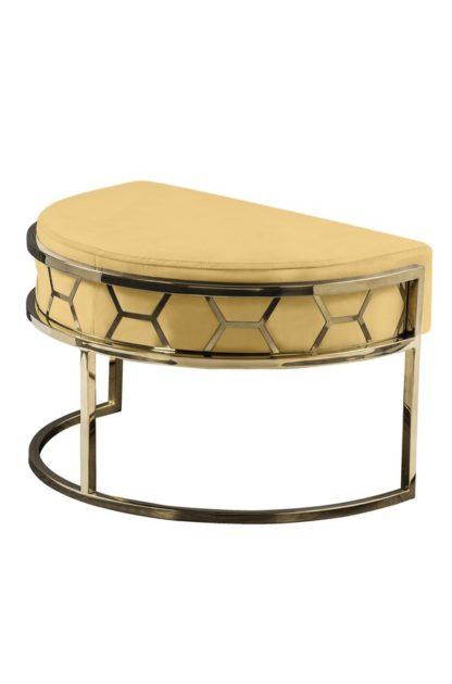 An Image of Alveare Footstool Brass -Ochre
