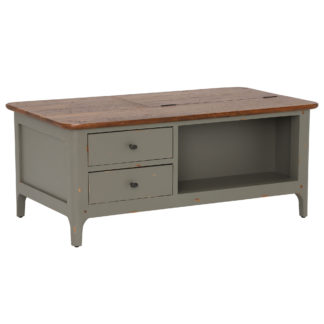 An Image of Maison 2 Drawer Coffee Table, Albany And Moss Grey