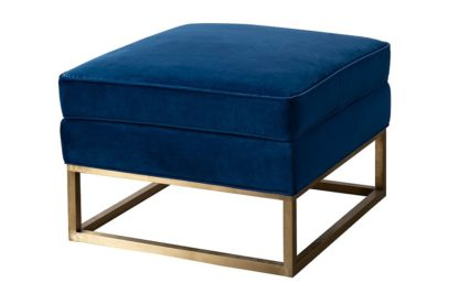 An Image of Kenza Footstool - Blue