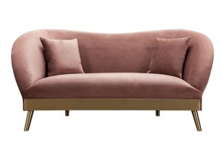 An Image of Lapio Two Seat Sofa - Blush Pink