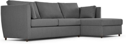 An Image of Milner Right Hand Facing Corner Storage Sofa Bed with Memory Foam Mattress, Night Grey
