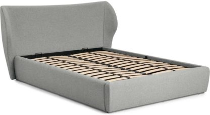 An Image of Topeka King Size Ottoman Storage Bed, Mountain Grey