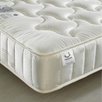 An Image of 2ft6 Small Single Quilted Fabric Mattress - Semi-Orthopaedic Pinerest Spring