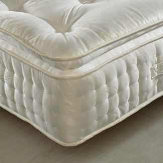 An Image of Signature 2000 Pocket Sprung Pillow Top Natural Fillings Mattress - 4ft Small Double (120 x 190 cm)