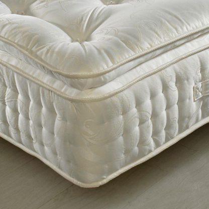 An Image of Signature 2000 Pocket Sprung Pillow Top Natural Fillings Mattress - 4ft6 Double (135 x 190 cm)