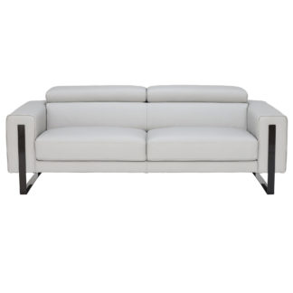 An Image of Milan 3 Seater Sofa, Bull 6502 Leather