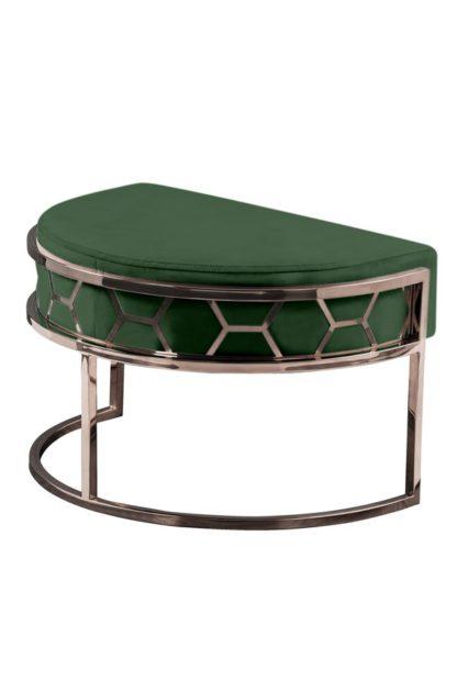 An Image of Alveare Footstool Copper - Bottle Green