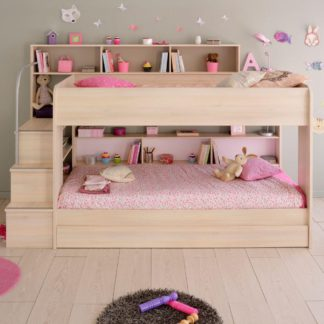 An Image of Bibop Acacia Wooden Bunk Bed with Underbed Storage Drawer Frame Only - EU Single
