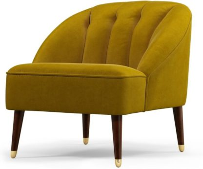 An Image of Custom MADE Margot Accent Armchair, Antique Gold Cotton Velvet