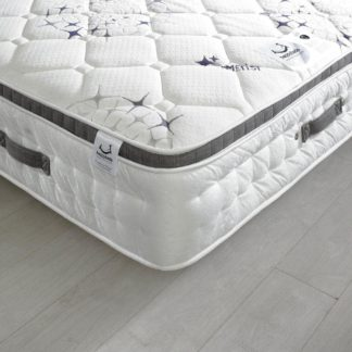 An Image of Ametist Crystal 2500 Pocket Sprung Air Stream Pillow Top Mattress - 4ft Small Double (120 x 190 cm)